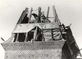 De gesloopte spits van de Julianakerk in Haarlem